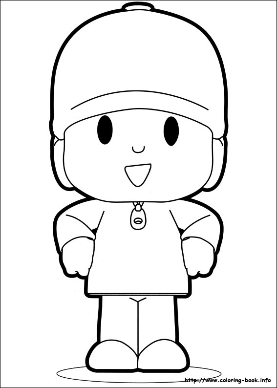 Pocoyo coloring pages on Coloring Bookinfo