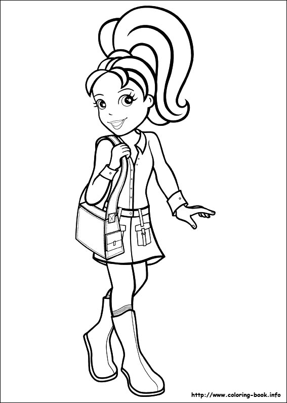 Polly Pocket coloring pages on ColoringBookinfo