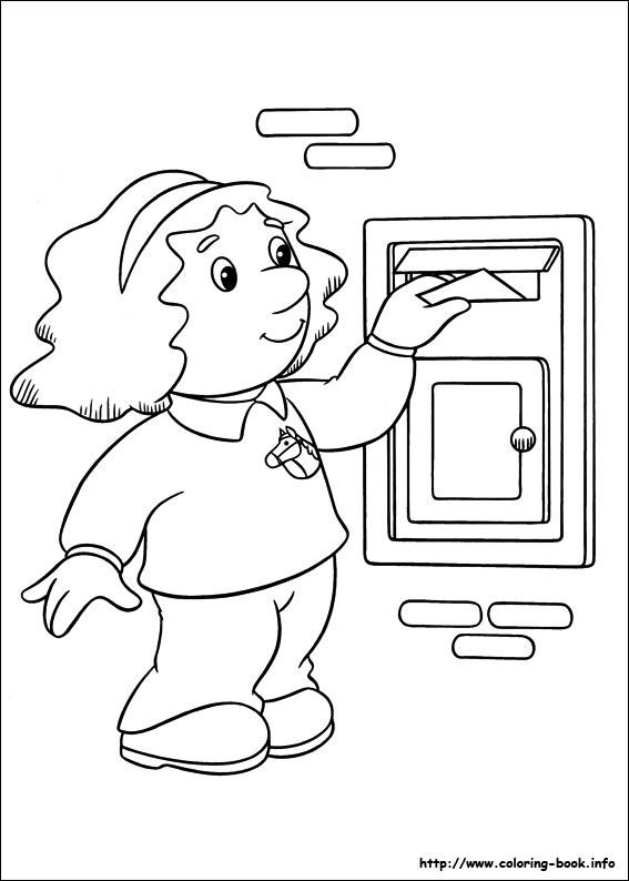 pstman pat colouring pages. Postman Pat coloring picture