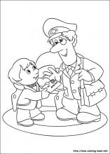 Postman Pat coloring pages on Coloring Bookinfo