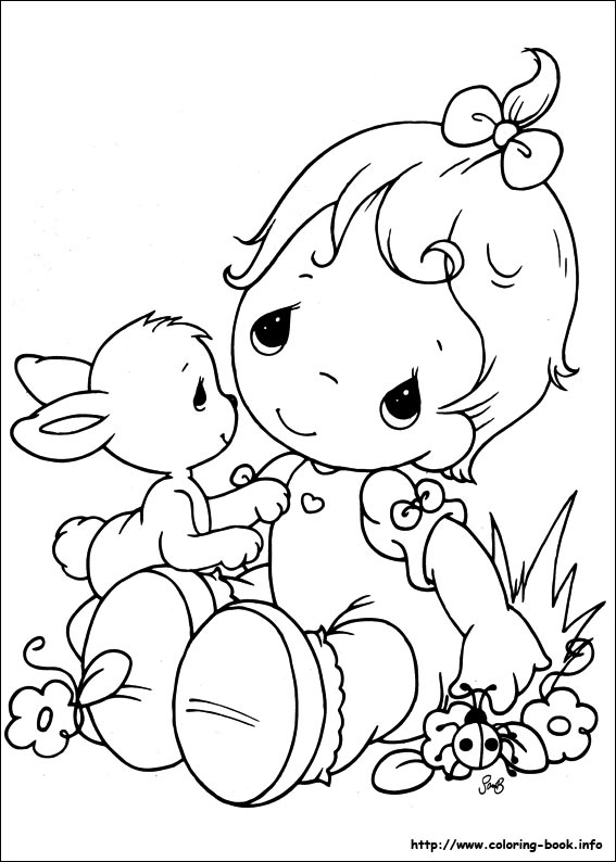 precious moment baby coloring pages - photo #9