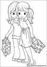 Precious Moments Coloring Pages On Book