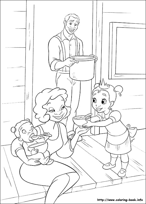 Kleurplaten Prinses Leonora The Princess And The Frog Coloring Picture