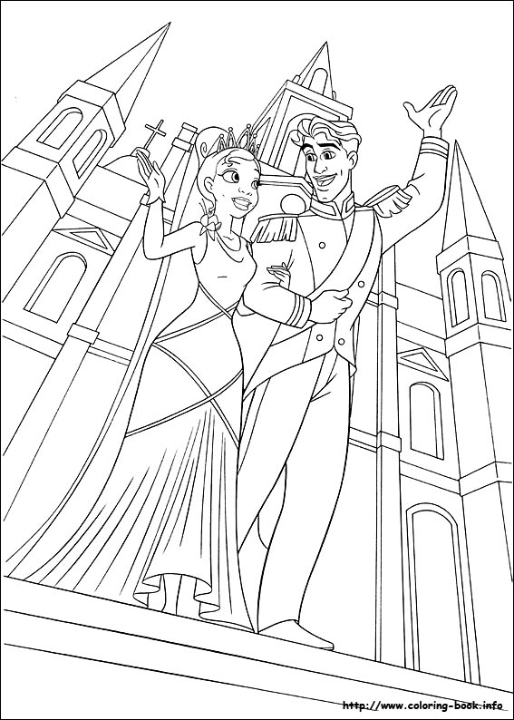 The Princess And Frog Coloring Pages On Book Info