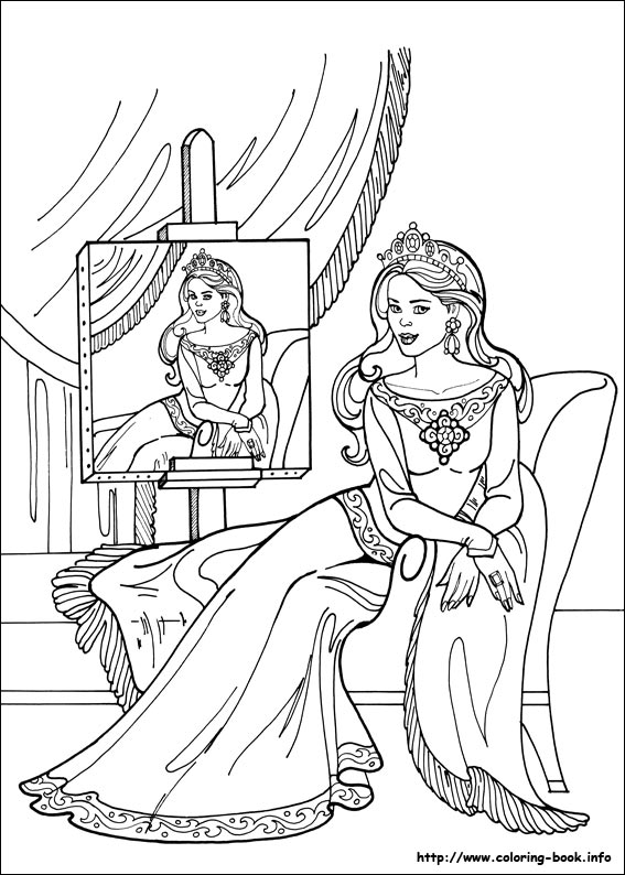 Princess Leonora Coloring Pages On Book