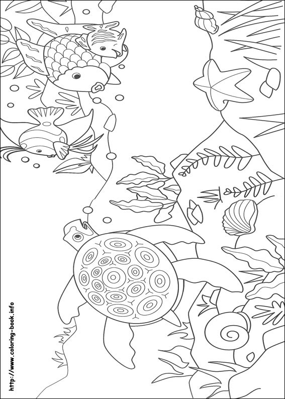 Rainbow fish coloring picture maxwellsz