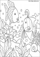 Rainbow Fish coloring pages on ColoringBookinfo