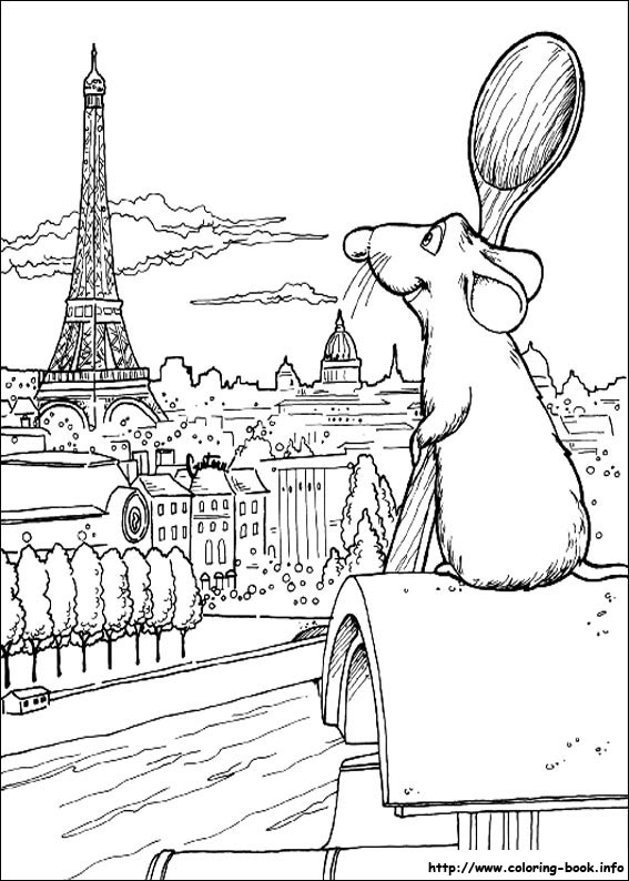 index coloring pages - Ratatouille Coloring Pages