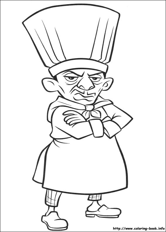 ratatouille coloring picture - Ratatouille Coloring Pages