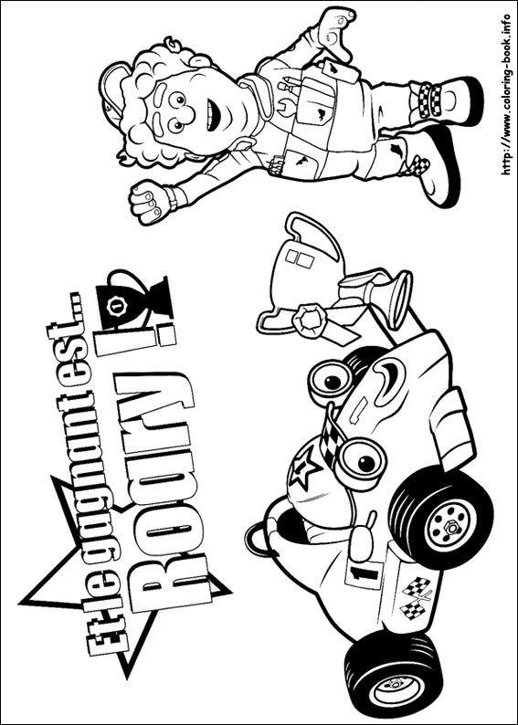 Roary The Racing Car Coloring Book Coloring Pages