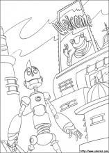 Robots Coloring Pages On Book