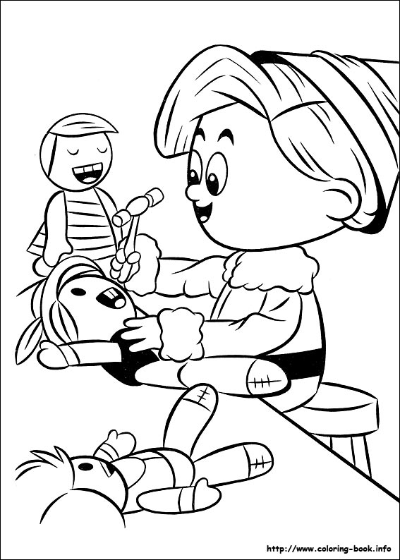 Rudolph the Red-Nosed Reindeer coloring pages on Coloring-Book.info