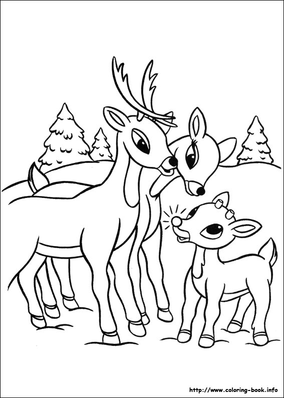 magnificent rudolph the red nosed reindeer coloring page gallery