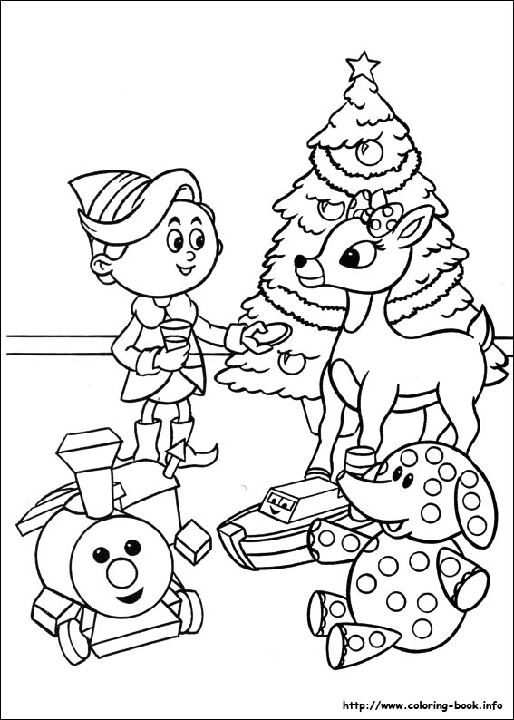 the Red Nosed Reindeer coloring picture