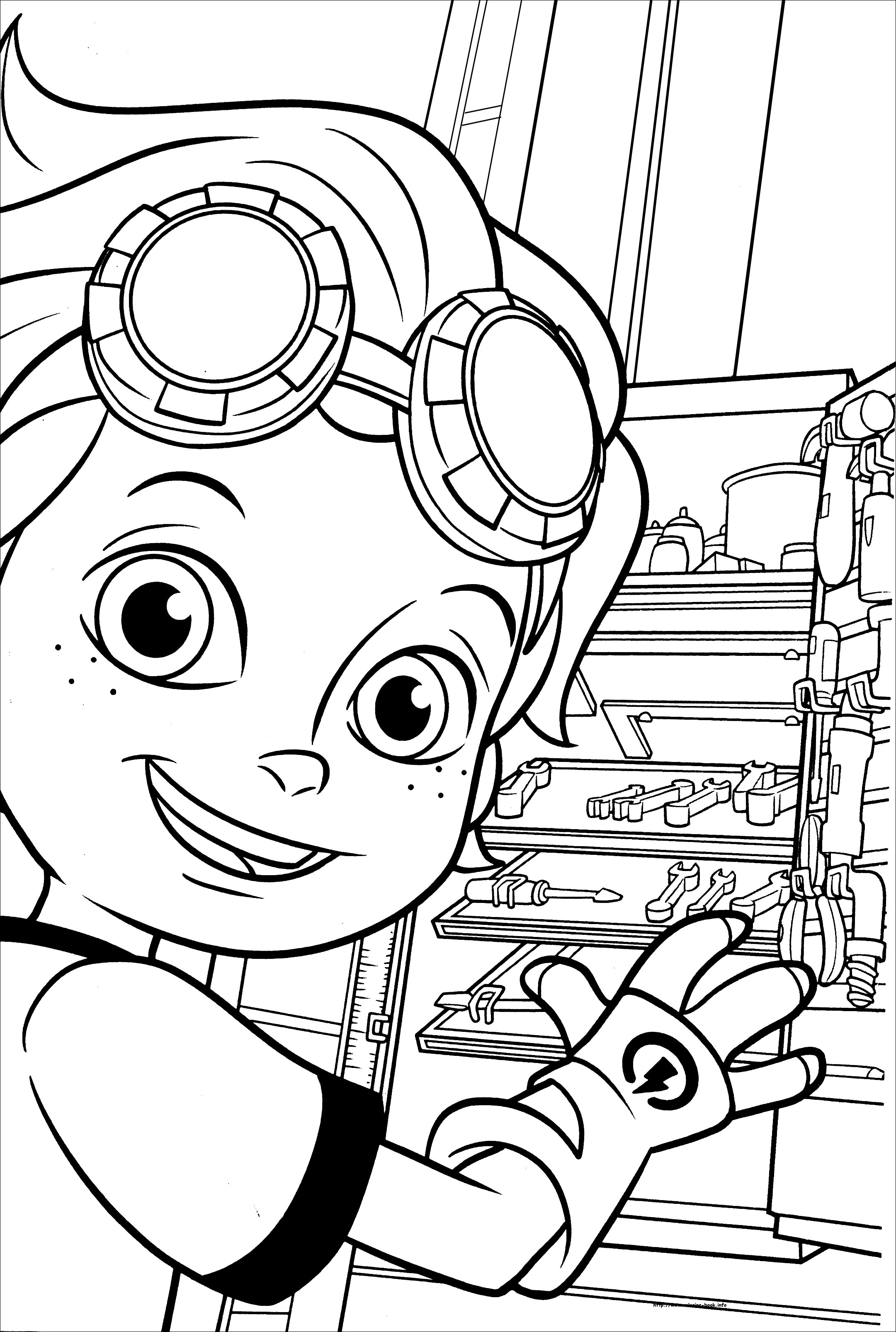 Rusty rivets coloring picture