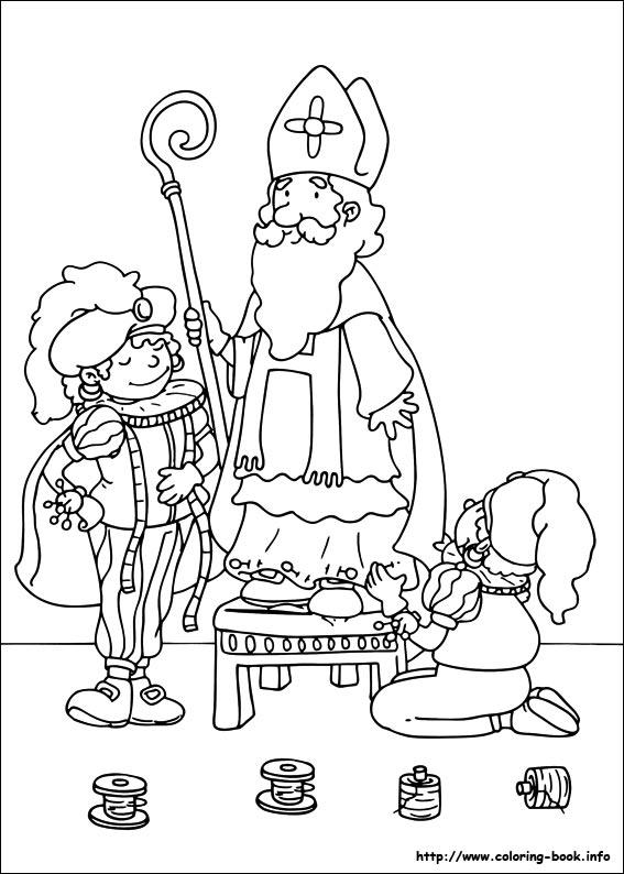 saint nicholas coloring picture