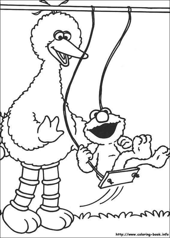 Sesame Street Printable Coloring Pages