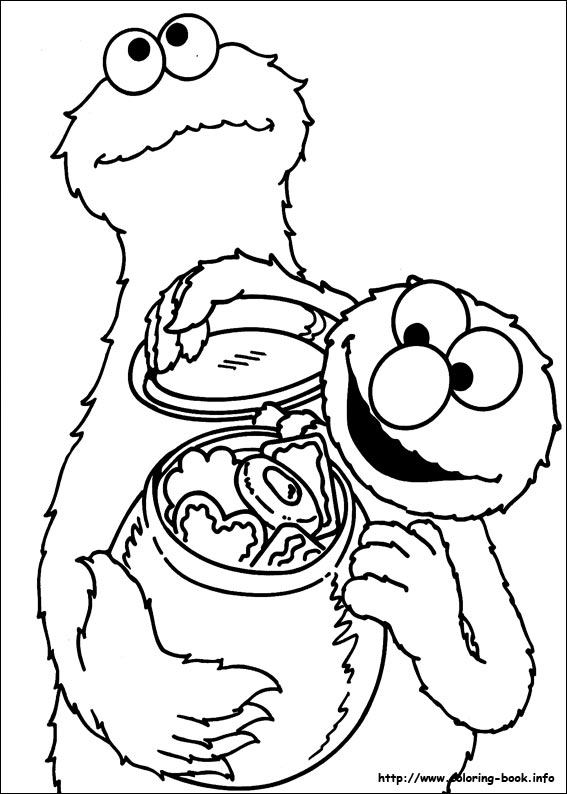sesame street coloring picture - Sesame Street Coloring Books