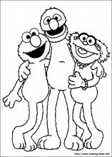 Sesame Street Coloring Pages On Coloring Book Info
