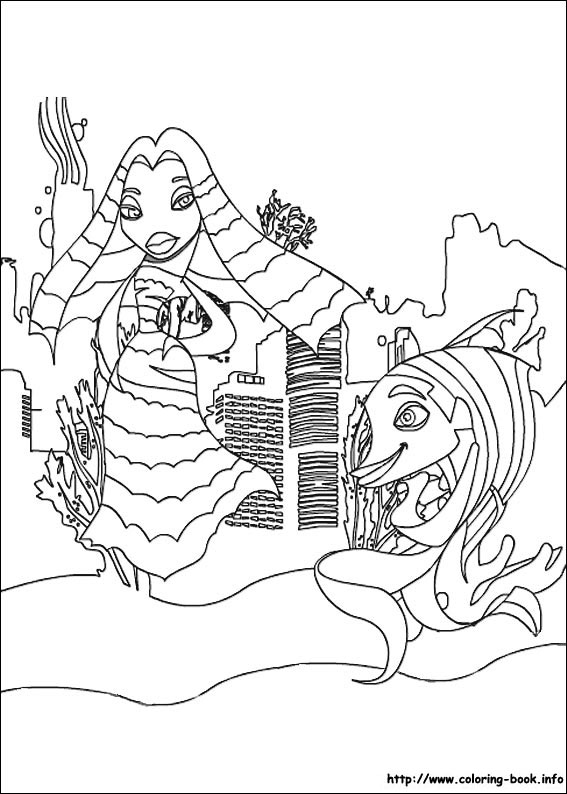 Shark Tale Coloring Picture