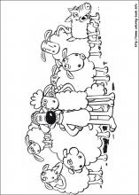 index coloring pages - Shaun The Sheep Coloring Pages