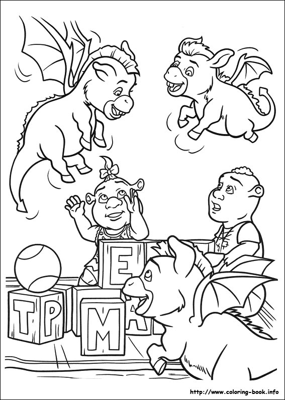 Shrek Forever After Coloring Pages Coloring Coloring Pages
