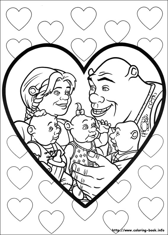 Shrek Forever after coloring pages on Coloring Bookinfo