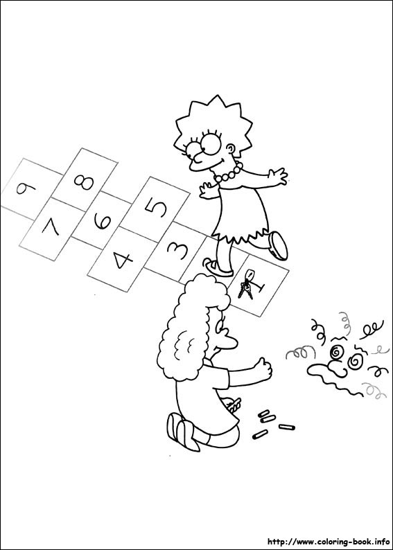 The Simpsons coloring pages on Coloring-Book.info