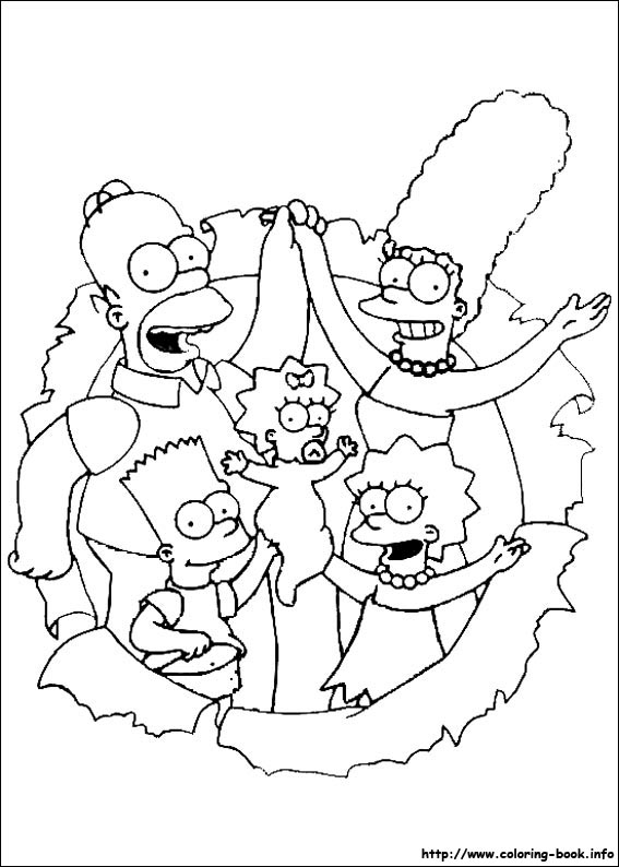 The Simpsons coloring picture