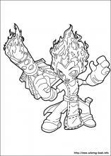 stealth elf spitfire coloring page. skylander bash coloring page ... | 220x157