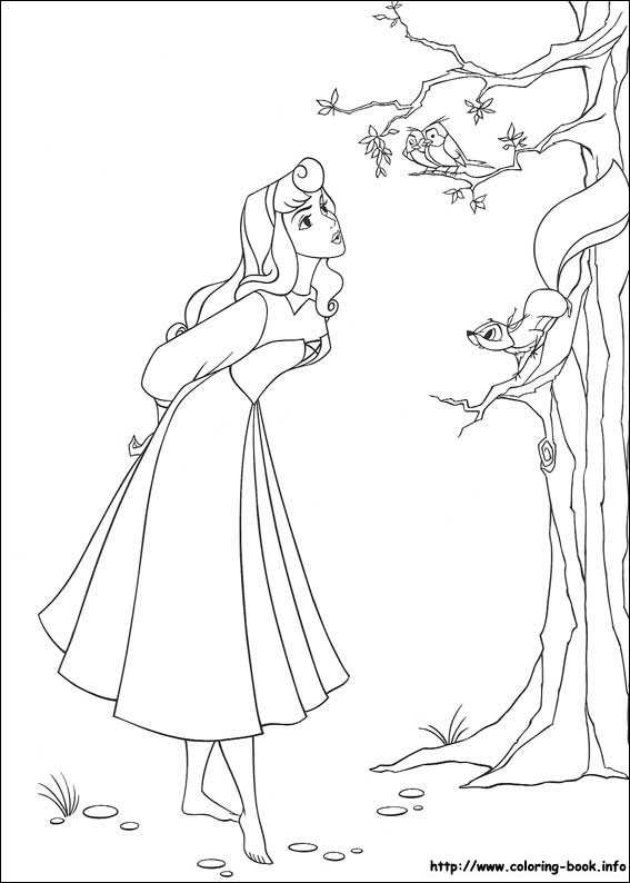 Sleeping Beauty Coloring Pages On Book