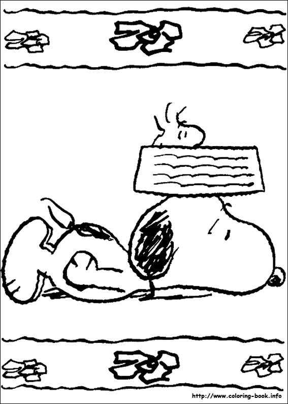 snoopy coloring pages on coloring bookinfo - Coloring Pages Coloring Book Info