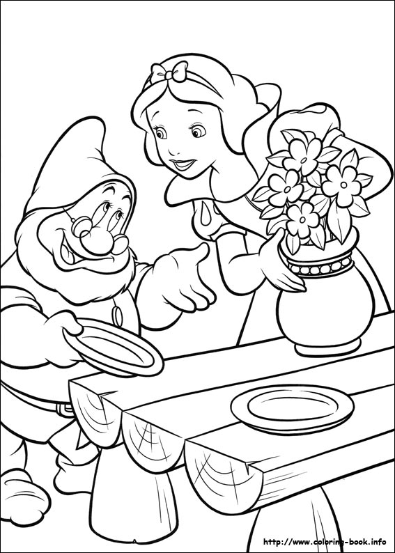 snow white coloring picture