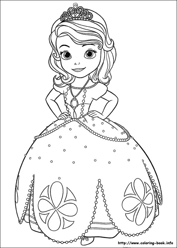 Sofia the First coloring pages on ColoringBookinfo