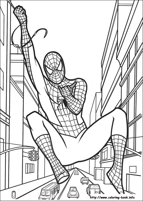 spiderman coloring picture - Spiderman Coloring Page