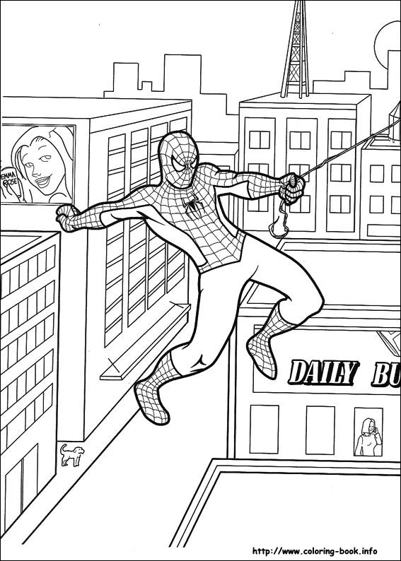 Spiderman coloring pages on Coloring-Book.info