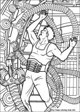 index coloring pages - Spider Man Coloring Page