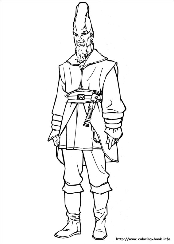 Star Wars Clone Wars Coloring Pages Jedi. Star Wars coloring picture