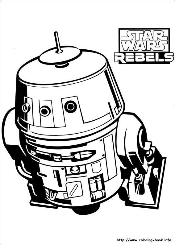 Chopper Star Wars Coloring Pages. Star Wars Rebels coloring picture