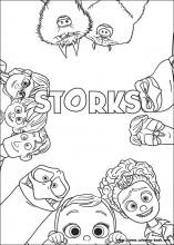 Storks coloring pages on ColoringBookinfo