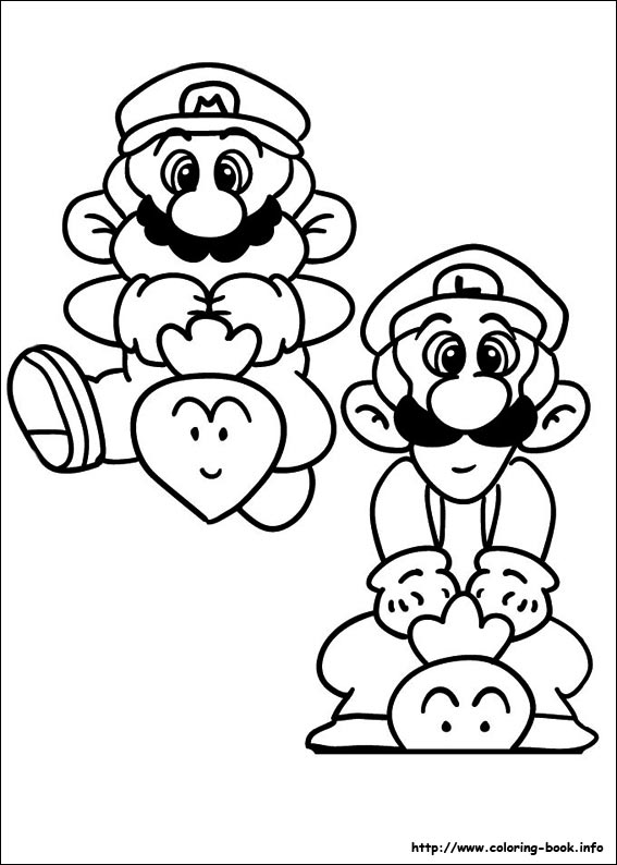 Super Mario Bros Coloring Picture