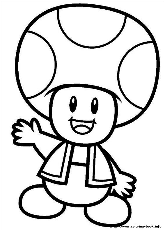 Mario Bros. coloring picture