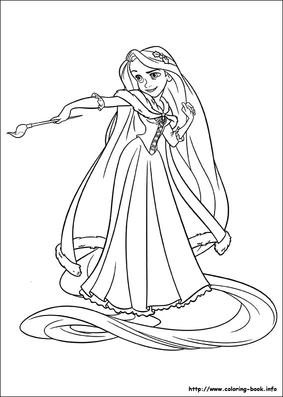 tangled coloring picture - Tangled Coloring Book