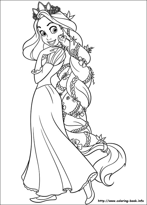 Disney Princess Coloring Pages Rapunzel