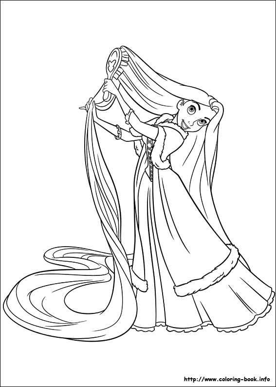 image about Rapunzel Printable Coloring Pages named Tangled coloring webpages upon