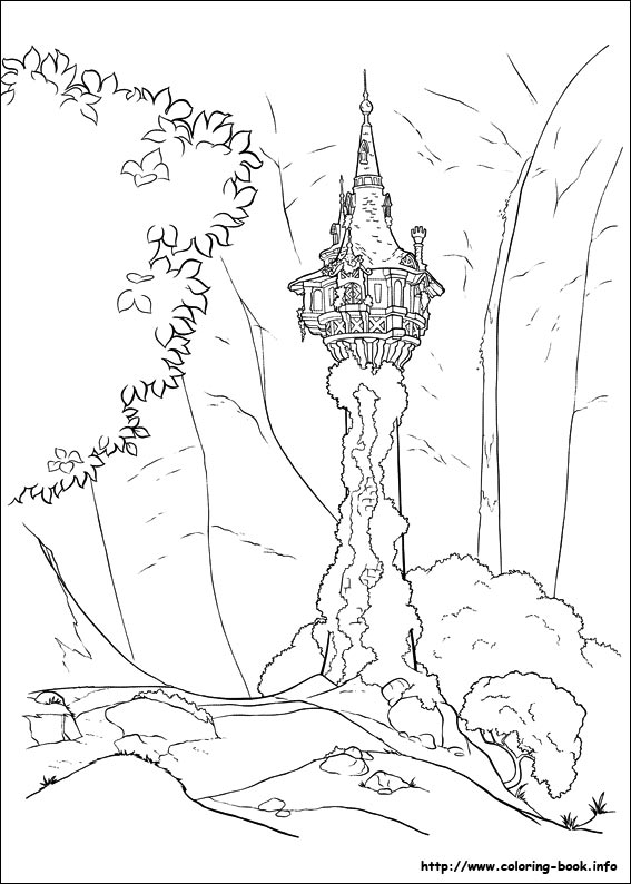Tangled Coloring Pages On Coloring Book