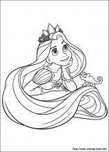 Tangled coloring pages on ColoringBookinfo