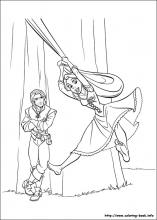 Tangled coloring pages on Coloring-Book.info