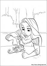 Tangled Coloring Pages On Book