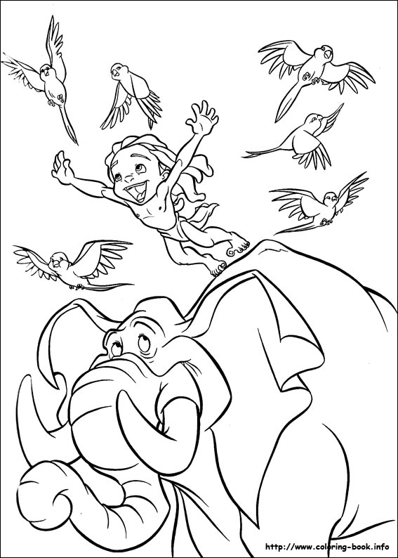 Tarzan coloring pages on Coloring-Book.info